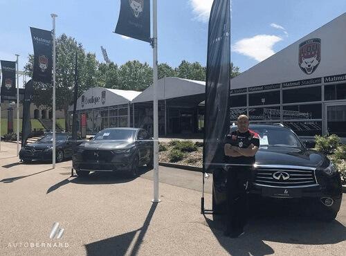 Pierre Mignoni (LOU RUGBY), ambassadeur du nouveau Centre de véhicules d'occasions haut de gamme à Lyon Sud : Autobernard Premium !